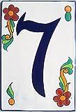 Big Talavera Ceramic Building Number Seven
