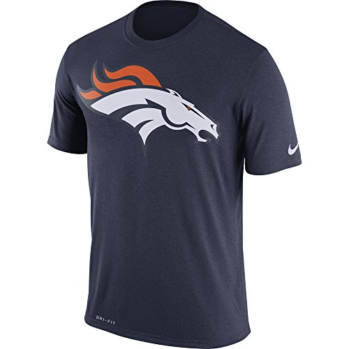 Nike Men's Denver Broncos Logo Essential 3 Tee College Navy Size X-Large