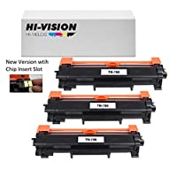HI-VISION HI-YIELDS Compatible [NO CHIP] TN760 Toner Cartridge HighYield 3000pages Printer use with HL-L2350DW/L2390DW/L2395DW/L2370DW DCP-L2550DW MFC-L2710DW/L2750DW HL-L2370DWXL MFC-L2750DWXL(3Pk)