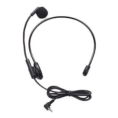 Awakingdemi Cable Head-Mounted Headset Microphone Flexible Wired Boom Amplifie Amp Loudspeaker