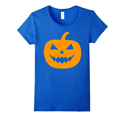 Womens Scary Pumpkin Shirt Costume 2017 Gifts Idea For Halloween XL Royal Blue