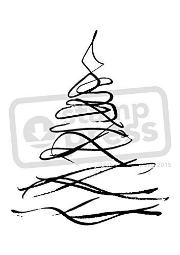 A7 'Elegant Christmas Tree' Unmounted Rubber Stamp (SP00007120)