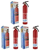 First Alert MNJDHCHG HOME1 ABC 2.5 Pound Rechargeable Fire Extinguisher-HOME1-1-A:10-B:C-10-Year Warranty 3 Pack