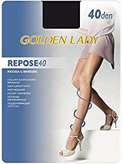 Unica Golden Lady Set 10 Repose 40 Castoro XL Calze Collant da Donna Abbigliamento Multicolore