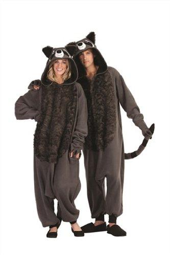 (RG Costumes Men's Rocky Raccoon, Gray/Black, One)