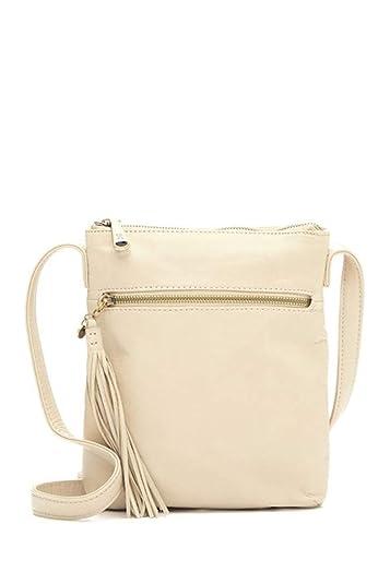 213df87fc87c Amazon.com: Hobo Sarah Leather Crossbody Bag - Linen: Shoes