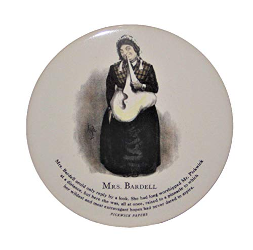 - H&R David Copperfield Mrs. Bardell 6 Inch Round Porcelain Tile
