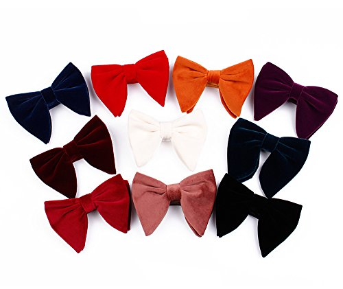 - Velvet Bow Tie Mens Pre-Tied Satin Formal Tuxedo Big Bowtie 10PCS