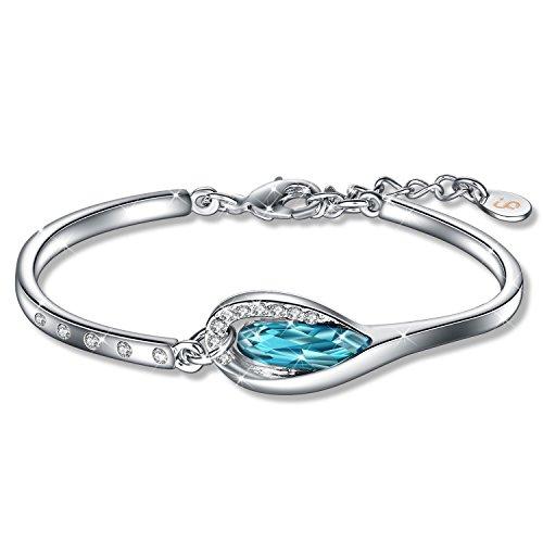 Fairy Season Christmas Jewelry Gifts Packing Bangle Bracelet Teardrop Crystal from ()