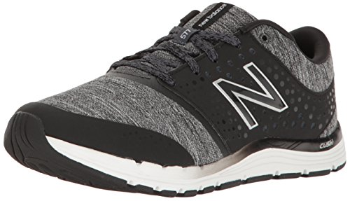 New Balance Women's WX577V4 CUSH + Training Shoe,Black/Heather, 7.5 B US