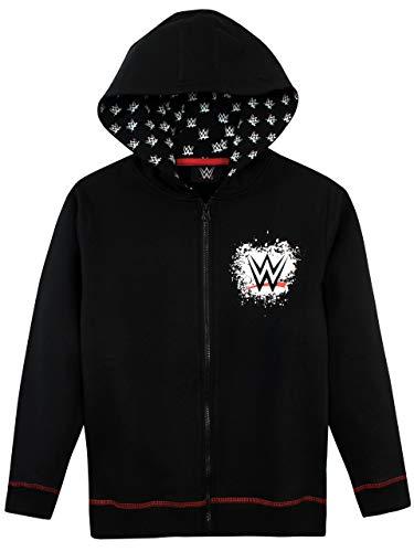 WWE Boys' World Wrestling Entertainment Hoodie Size 10 Black (Wwe Hooded Sweatshirt)