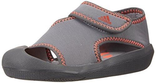 adidas Performance Fun I Sandal (Infant/Toddler), Solid Grey/Grey/Solar Red, 8 M US Toddler