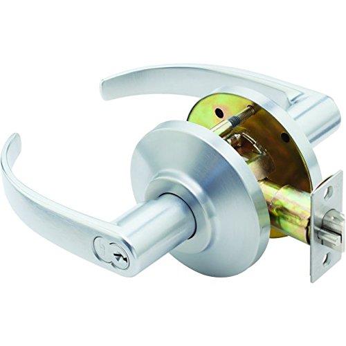 Stanley Best 7KC 37 D 14D S3 626 7-Pin Contour Return Medium Duty Lockset, Storeroom, Satin Chrome, 2''
