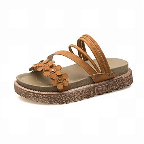 Planas Rosado Roma Fuweiencore Los Plataformas Todos color Sandalias 39 Para Zapatos Inglaterra De Marrón Acampanadas Plataforma Tamaño La Mujer qvOZq