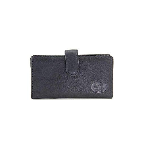 Buxton Black Leather (Buxton Heiress Pik Me Up - Checkbook & Credit Card Holder Wallet, Black)