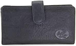 Buxton Leather Heiress Tab Checkbook Cover & Credit Card Holder