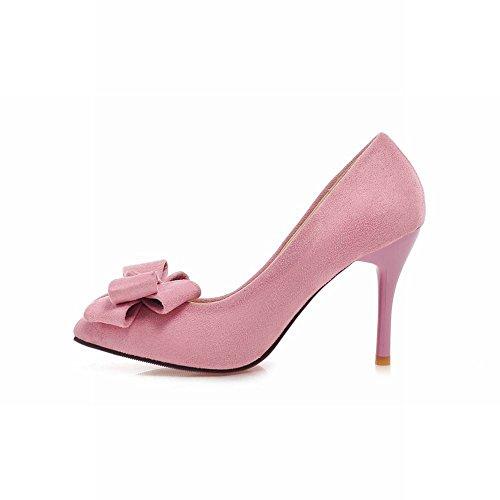 Carol Shoes Women's Elegant Charm Stiletto High Heel Bows Court Shoes Pink 2uJVzwfkGI
