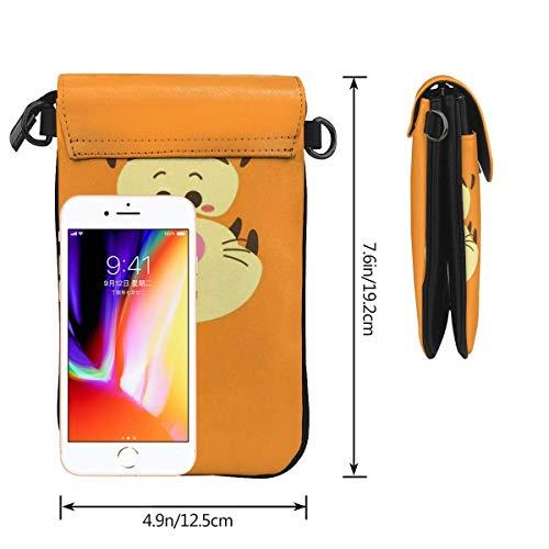 Nalle Puh telefon handväska kvinnor crossbody handväskor lätta väskor kvinnor handväska läder mobiltelefon hölster plånbok fodral
