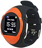 Oxking PG88 1.5-Inch GPS Wristwatch (Orange)