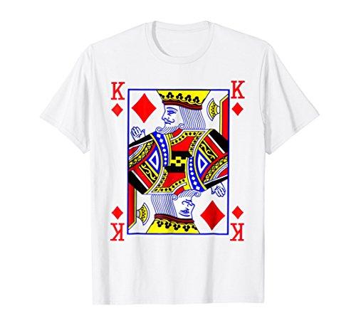 King of Diamonds Playing Card Poker Costume Card Tee Shirt]()