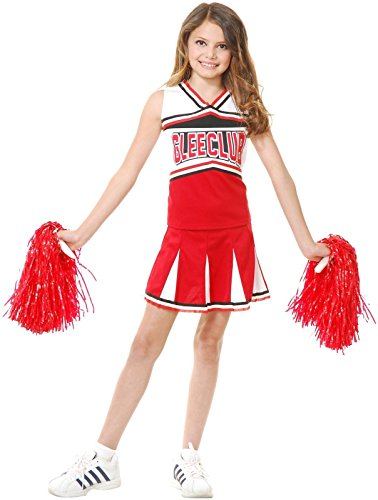 Charades Girls' Glee Club Cheerleader Costume, (Glee Costume)