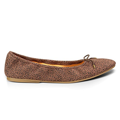 Ballet Brown Women's Sanuk Animal Flats Dot Yoga Prima tO6x8wxqA