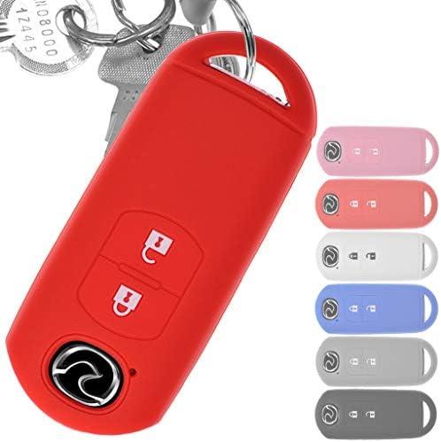 Soft Case Schutz Hülle Auto Schlüssel Key Cover Keyless Rot Für Mazda 2 3 6 Cx