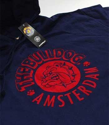 Maglione Amsterdam Felpa Taglia Bulldog Logo Cappuccio Cotone The L Con Blu qOZAwIHW7