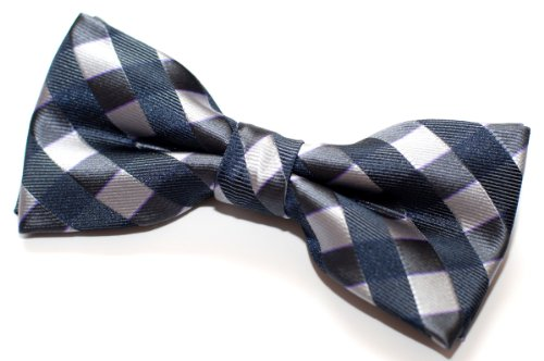 "Retreez Classic Check Woven Microfiber Pre-tied Bow Tie (4.5"") - Various Colors"