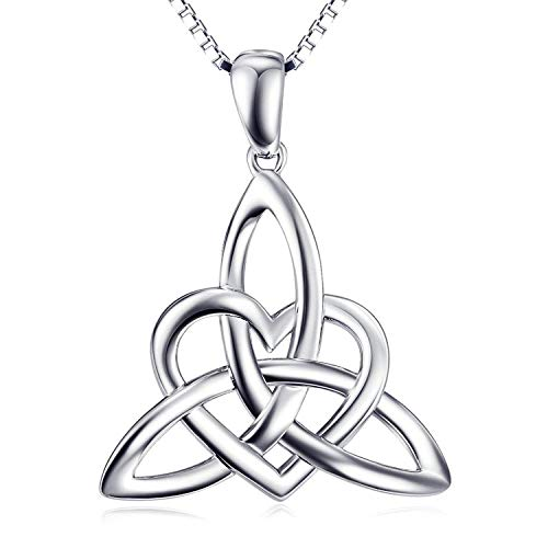 (Sterling Silver Irish Celtic Knot Claddagh Lover Heart Shaped Pendant Necklace Bracelet)