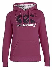 Canterbury Linear Fleck Logo Women's Hoody - AW15 - X Small - Pink