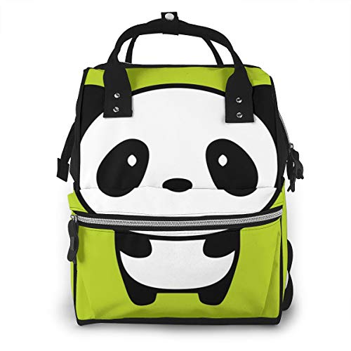 Panda Animal Mummy Backpack 11.1x 7x15.7 In Twill Waterproof Canvas Production With Waterproof Pockets.Suitable For Babies To Play With A Lot Of Things When Going Out.