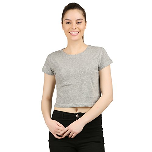 - Ap'pulse Women's Crop Top Large Grey Melange