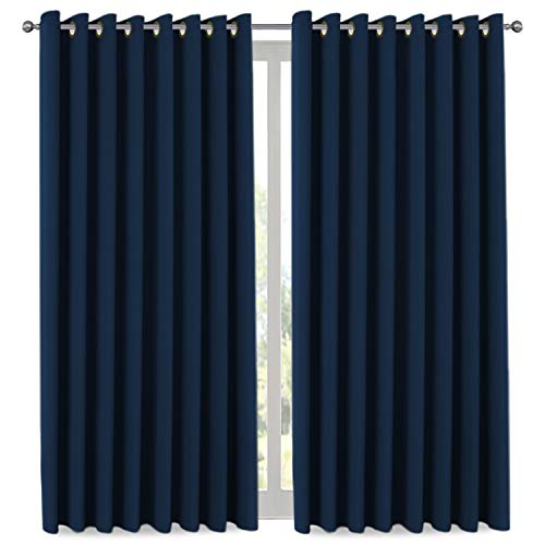 H.VERSAILTEX Ultra Blackout Wider Curtains, Extra Long and Wide Thermal Insulated Large Window Panels (100