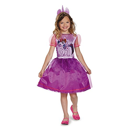 [Disguise 83319K Twilight Sparkle Classic Costume, Medium (7-8)] (Tv Movie Childrens Costumes)