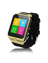 Wooboo S29 Bluetooth Smart Watch GSM Quad Band Mobile Phone Watch with Camera Anti-Lost Pedometer TF card up to 8GB(Gold)