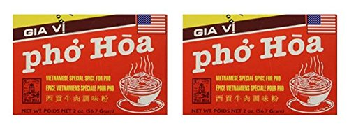 (Gia Vi Nau Pho (Pho Hoa) Beef Noodle Soup Spices 2 oz Box (Pack of 2))