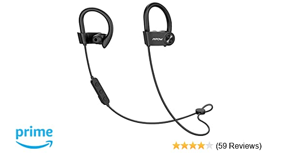 Mpow D9 Bass+ Bluetooth Headphones 16H Playback, aptX Sound Wireless  Earbuds Sports Bluetooth 5 0, IPX7 Waterproof Earphones w/CVC6 0 Noise  Cancelling
