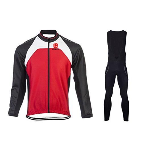 Men's Cycling Long Sleeve Zip With 4D-Padded Breathable Cool Quick Dry Jersey (Boys Shifter Performance Pants)