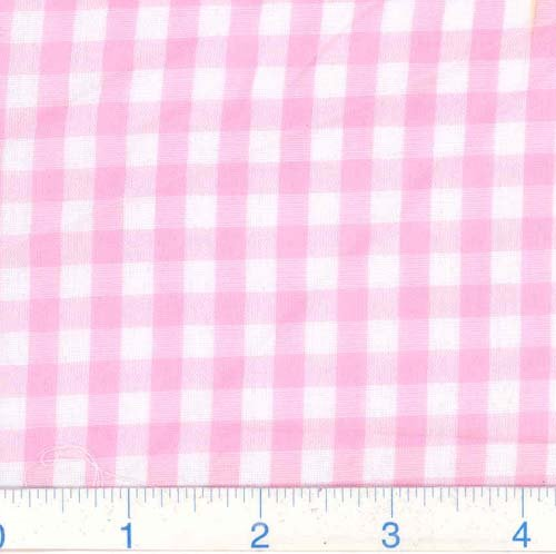 Richland Textiles G4R-004 Richcheck 60in Gingham Check 1/4in Pink Fabric by The Yard
