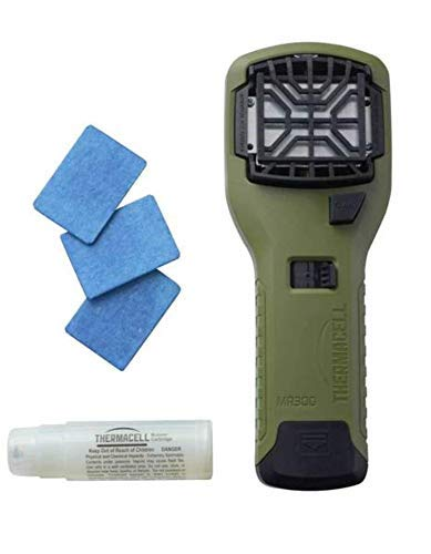 Thermacell Mosquito Area Repellent - Olive MR300 Portable Repeller with Bonus Pack