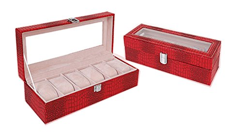 watch display case red - 6