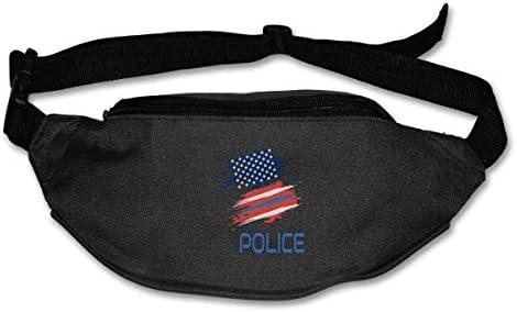 警察ユニセックスアウトドアファニーパックバッグベルトバッグスポーツウエストパック