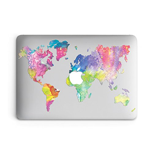 GoodMoodCases Plastic Hard Case Cover for MacBook Pro 13 (A1708,A1706,A1989) with/without Touch Bar - Colorful World Map