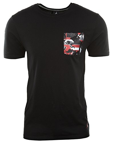 Mens Jordan Aj 9 T-shirt Tascabile (820655-412) - Blu Università / Nero Nero / Rosso Palestra