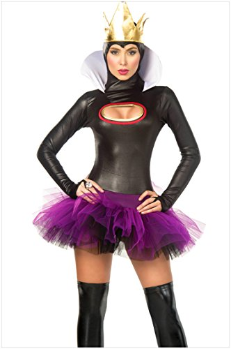 ACVIP Women's Take A Bite Fairytale Evil Queen Witch Fancy Dress Costume (Wicked Witch Fancy Dress)