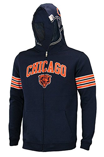 Outerstuff NFL Big Boys Youth (8-18) Full Zip Helmet Masked Hoodie, Chicago Bears, Small (8)