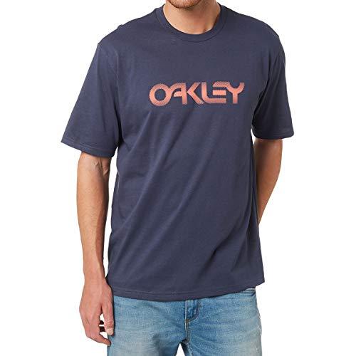 Oakley Mens Men's Foggy Oakley TEE, Blue, L (Oakley Radar-rahmen)