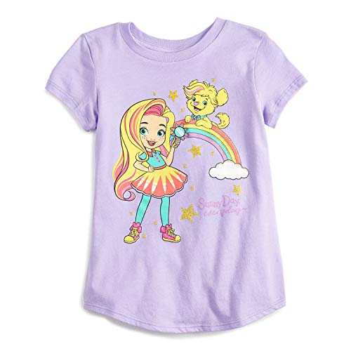 Jumping Beans Little Girls' 4-12 Sunny Day Everyday Tee 6 Purple