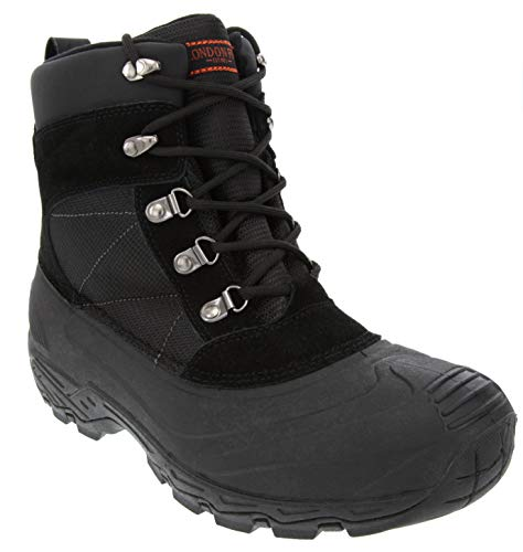 London Fog Mens Woodside Waterproof and Insulated Cold Weather Snow Boot Black 11